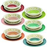Tognana Service de table 18 pièces Daisy Multicolore, Stoneware