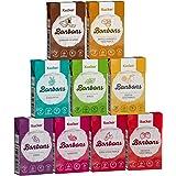 Xucker 9 x 50 g Xylit-Bonbons-Set zuckerfreie Zahnpflegebonbons - mit natürlichem Aroma, optimal für die kohlenhydrat-bewusste Ernährung - Made in Germany - frei von Gentechnik