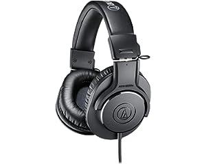 Audio Technica ATH M20x Over Ear Professional Studio Monitor Headphones  Black