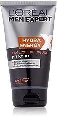 L'Oreal Men Expert Hydra Energy Xtreme Reinigungsgel, mit Kohle gegen Hautunreinheiten, 150 ml
