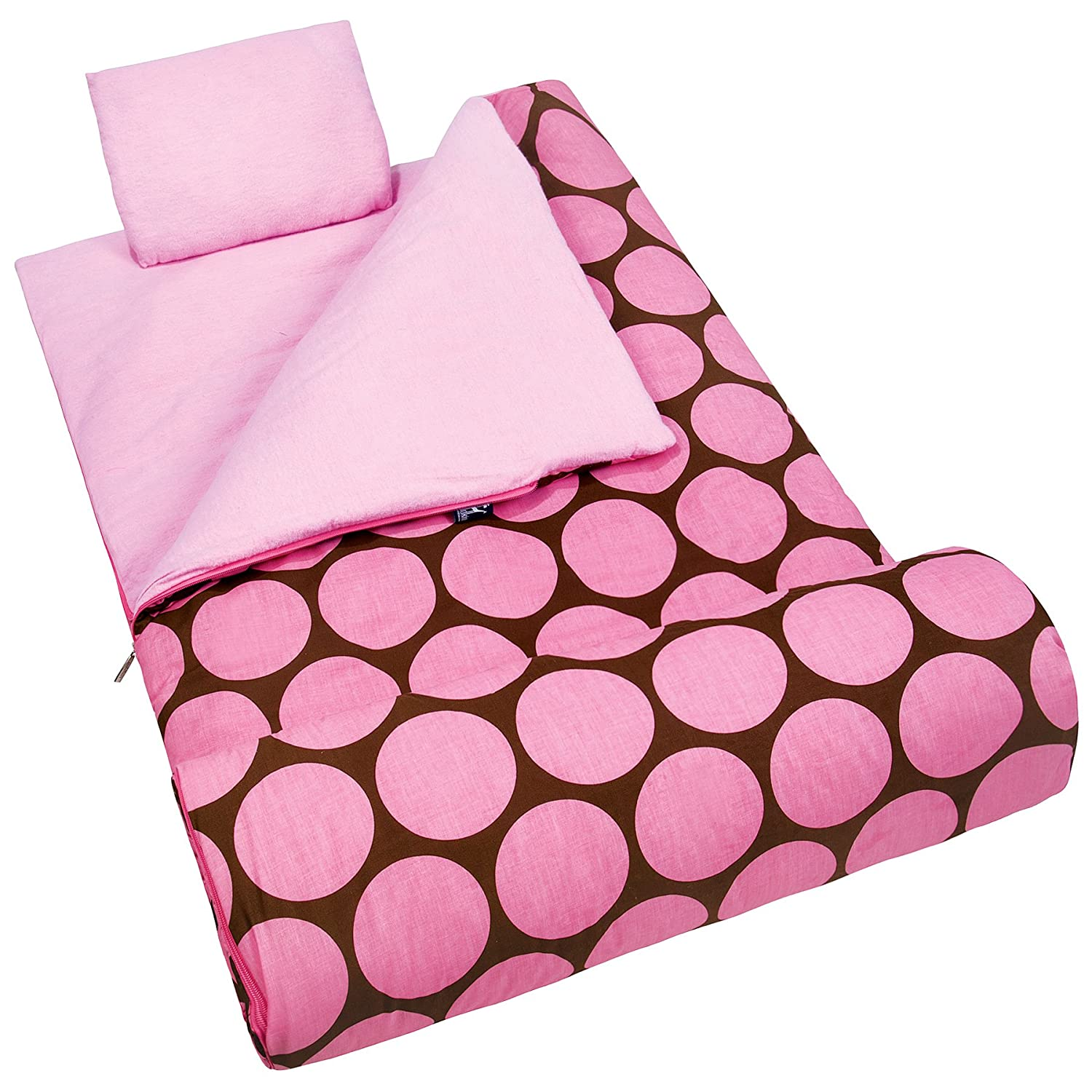 Wildkin Kids Sleeping Bag Nap Mat Slumber Big Dot Pink Amazoncouk Toys Games