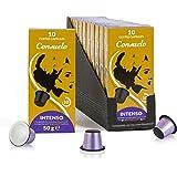 Consuelo Nespresso* Compatible Espresso Capsules - Intenso, 100 capsules (10x10) - NEW and improved version of ASIN B07KSQCBB
