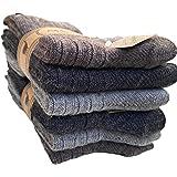 Lucchetti Socks Milano 6 PAIA calzini uomo CORTI IN misto lana e ALPACA caldissime di alta qualità Calze Calde per il Freddo,
