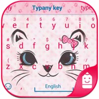 Kitty Face Theme&Emoji Keyboard