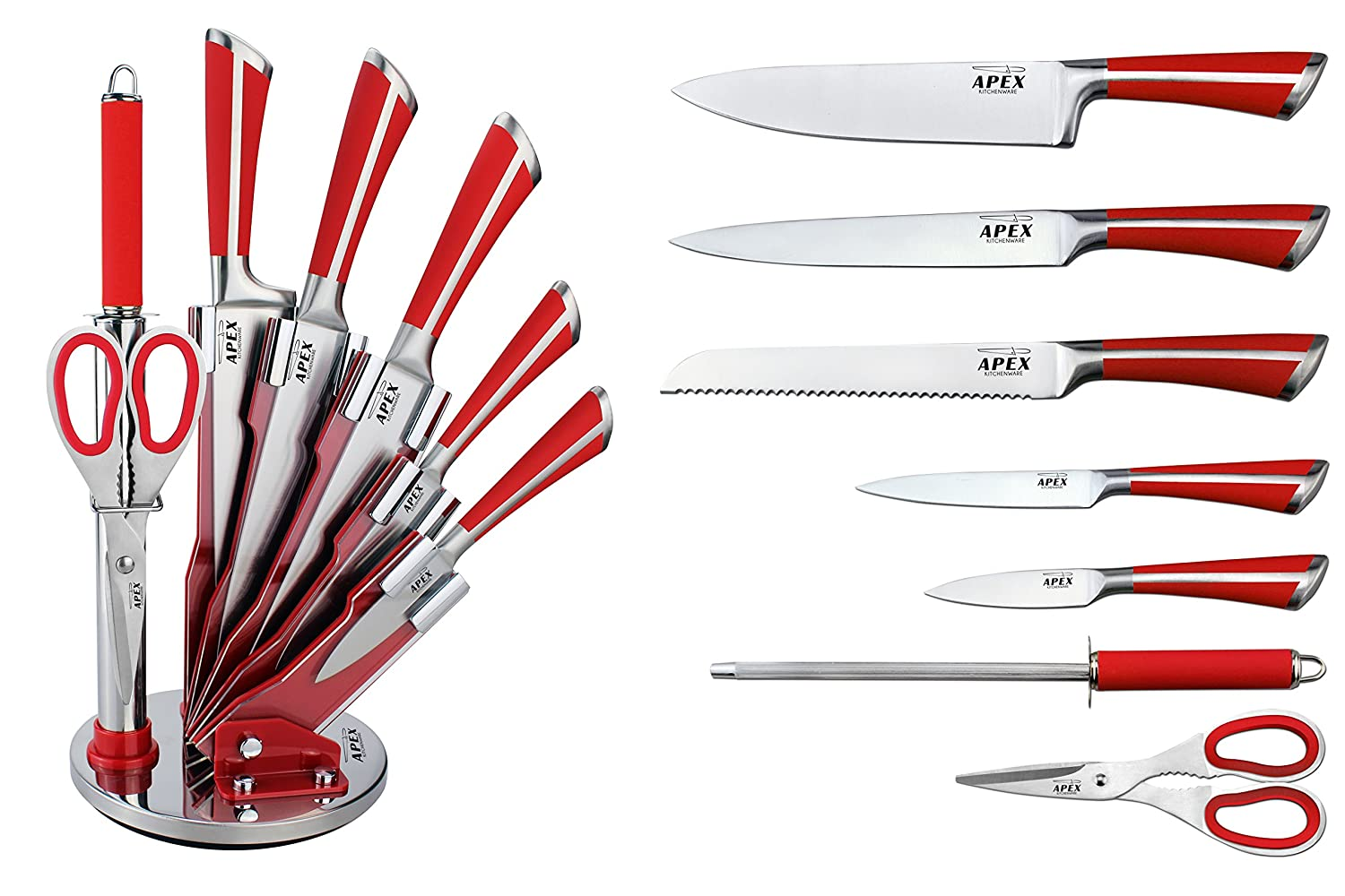 stunning 7 piece professional kitchen knife set u0026 holder choose