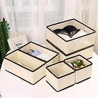 Qisiewell Boîte de rangement pour sous-vêtements et chaussettes - 6 tiroirs - Organiseur d'armoire - Boîte de rangement…