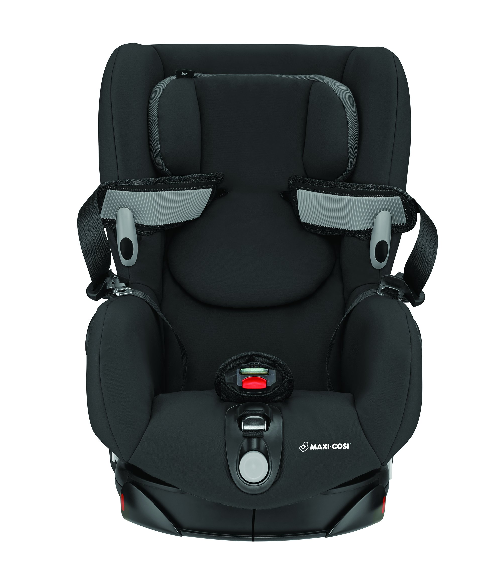 Maxi-Cosi Axiss Toddler Car Seat Group 1, Swivel Car Seat, 9 Months-4 Years, Nomad Black, 9-18 kg Maxi-Cosi Car seat swivels 90° degrees allows for front-on access to get your toddler in and out of the car more easily 8 comfortable recline positions. Machine washable cover at 30° Install using the car's seat belt and the integrated belt tensioner ensures a solid fit 3