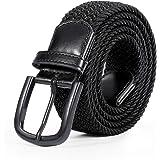 Braided Elastic Belt for Men, Stretch Woven Belt for Jeans Unisex Casual Belt