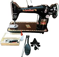 Nora Sewing Machine (Black) Ta1 Umbrella Round Full Shuttle With Accessories
