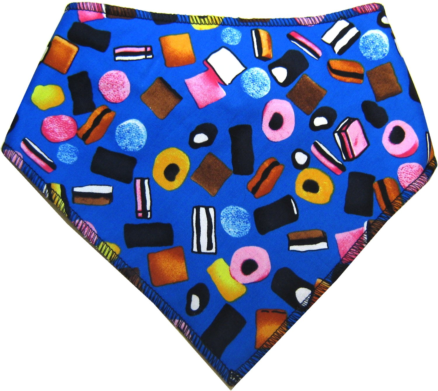 Spoilt Rotten Pets (S4 Liquorice Allsorts Purple Bandana. Large Size Generally Fits Rottweilers and St Bernard Sized Dogs. Neck Size 23″ to 28″ Gorgeous Range of Patterns & Colours.