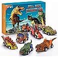 Stfitoh Coches de Dinosaurios Juguetes 6 Piezas - Juguetes para Padres e Hijos Niños