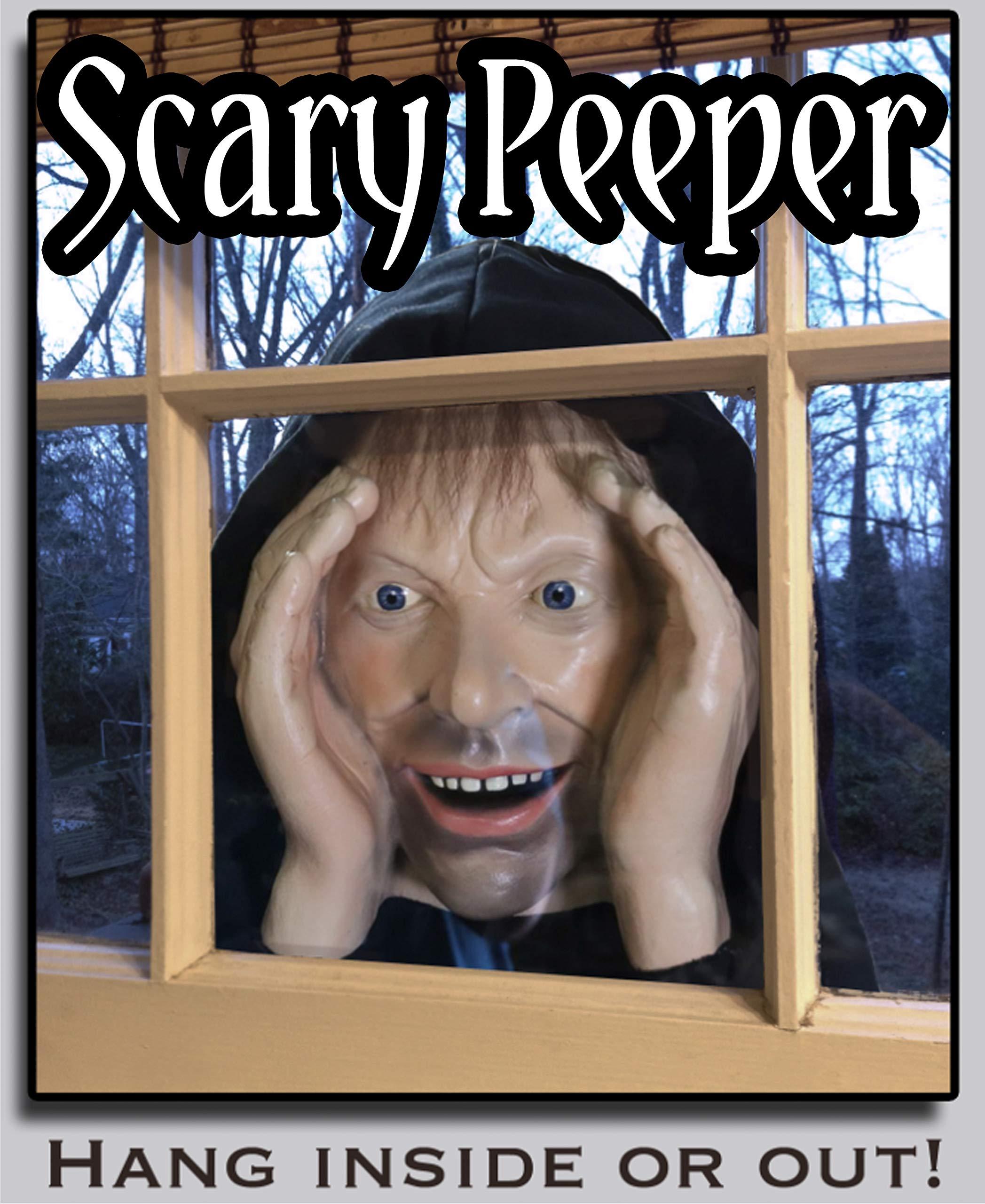 Halloween Dekorationen Scary Peeper Spanner| wahrlich lebender angsteinflößender Fenster Peeper Stütze