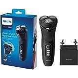 Philips Serie 3000 S3233/52 - Afeitadora eléctrica, cabezales pivotantes y flexibles 5D, cortapatillas desplegable para bigot
