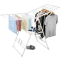 AmazonBasics Stainless Steel Clothes Drying Stand (Foldable, White)