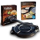 Tortillada – Pressa di Alta Qualità per Tortilla in Ghisa con Ricette E-Book in italiano (20cm)