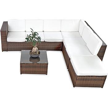 XINRO 19tlg XXXL Polyrattan Gartenmöbel Lounge Sofa Günstig   Lounge Möbel  Lounge Set Polyrattan Rattan Garnitur Sitzgruppe   In/Outdoor    Handgeflochten ...