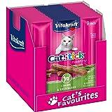 Vitakraft - Cat Stick Mini, Snack para Gatos, Barritas de Pollo con Hierba Gatera -envase 3 Sticks de 6 g, 18 g