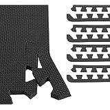 GORILLA SPORTS® 8 Schutzmatten-Endstücke Schaumstoff - 6 Farbvarianten mit 60 cm-Länge + 1,2 cm-Dicke
