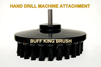 Buff King Cleaning Drill Brush - 5.25 Inches (Black)