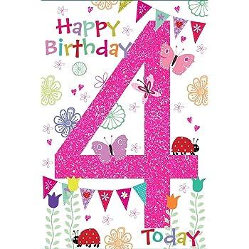 Hallmark 4th Birthday Card For Girl Fold Out House Medium