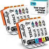 Smart Ink Cartucce Compatibili per Canon PGI-570 CLI-571 XL PGI 570XL CLI 571XL (PGBK & BK/C/M/Y 10 Pack Combo) per la Ricarica delle stampanti Pixma MG5750 MG6850 TS5050 TS6050 MG6851 TS5051 TS5053