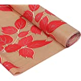 Amazon Brand - Solimo PVC Wardrobe and Kitchen Cupboard cum Shelf Mat Liner, Leaf, 10 Meters, Red