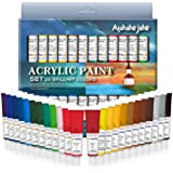 Alohahejahe-ae Acrylic Paint Set, Perfect for Canvas, Wood, Ceramic, Fabric, Non Toxic Vibrant Colors, Rich Pigments Lasting