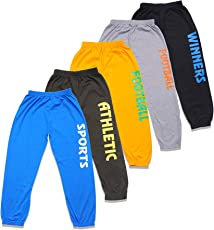 T2F Boys' Printed Track Pant (Pack of 5, Black-Yellow-Green-Blue-Grey)