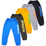 T2F Boys Cotton Printed Track Pants (Pack of 5)- Blue-Green-Yellow-Grey-Black for 2-10 Years