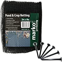 garden mile/® 2 x 2m x 5m Black Pond Plant Netting Garden Protector Mesh Pest Control For Fruit Veg Pea Growth Fish Koi Pond Tidy Durable Net Stretch Fencing Covers Against Leaves Predator For Outdoor