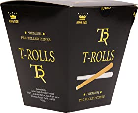 Turner Tools Pre-Rolled Organic Paper Cones, 56-Pieces, (Brown)