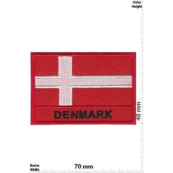 - L/änder Flagge Patch-Iron-D/änemark D/änemark Iron On Patches Denmark Aufn/äher Embleme B/ügelbild Aufb/ügler