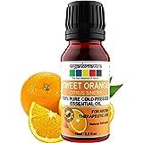 Organix Mantra Sweet Orange Essential Oil - Cold Pressed, 100% Pure Aroma, Therapeutic Grade (15ML)
