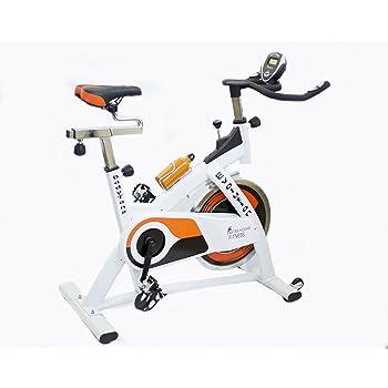 Astan Hogar B Evolution Spinning Bicicleta, Unisex Adulto, Blanco/Naranja, Talla Única