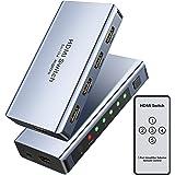 5X1 Switch HDMI 4K 60HZ, WENTER Commutateur HDMI multiprise 5 Entrées à 1 Sortie, HDMI Switch avec Télécommande,Supporte PS4
