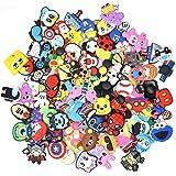 ZSWQ 100 Pcs Different PVC Shoe Charms,Shoes Charm Cartoon Lovely Shoes Decoración Pulsera Charms Favores De Fiesta,los mejor
