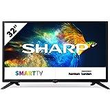 SHARP LC-32HI3222E 81 cm (32 inch) televisie (HD Ready LED TV, Triple Tuner), zwart