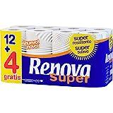 Renova Papel Higiénico Super Prom - 16 Rollos Blancos