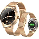 Fitonme Fitnesstracker, smartwatch voor vrouwen, IP68 waterdicht, sporthorloge met hartslag- en bloeddruk-slaapmonitor, stapp