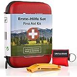 GoLab EHBO-set outdoor - survival kit. Sport & Travel First Aid Kit met noodmasker + signaalfluitje voor optimale eerste verz