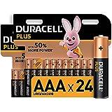 Duracell Plus AAA, Pilas Alcalinas , paquete de 24, 1,5 Voltios LR03 MN2400