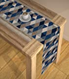 AEROHAVEN™ Abstract Multicolour HD Digital Modern 6 Seater Table Runner Cloth Cover - TR16 - (Multi, 13 x 72 Inch)