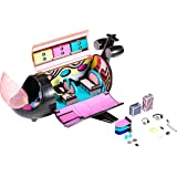 LOL Surprise OMG Remix 4-in-1 Plane Playset Transforms - Dreamplane Music Playset - My Carry Along Airplane Playset Kids Craf