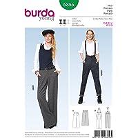 Burda B6856 Patron de Couture Pantalon et Salopette 19 x 13 cm
