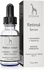 Retinol Serum – Mother Nature® | hochdosiert | Anti-Aging Pflege für Haut, Gesicht, Dekolleté und Körper | 30 ml inkl. Hyaluronsäure und Vitamin E | für Männer und Frauen