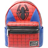 Loungefly x Marvel Spider-Man Suit Mini Faux Leather Backpack , Multicolor