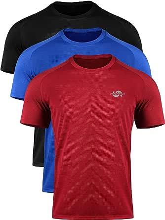 Cadmus Men's Mesh Dry Fit Athletic Shirts for Golf Tennis T-Shirts Hiking