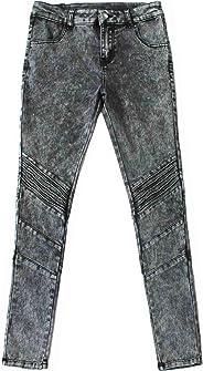 Bienzoe Mädchen Baumwolle Dehnbar Dunkelblau Schnee waschen Dünn Jeanshosen