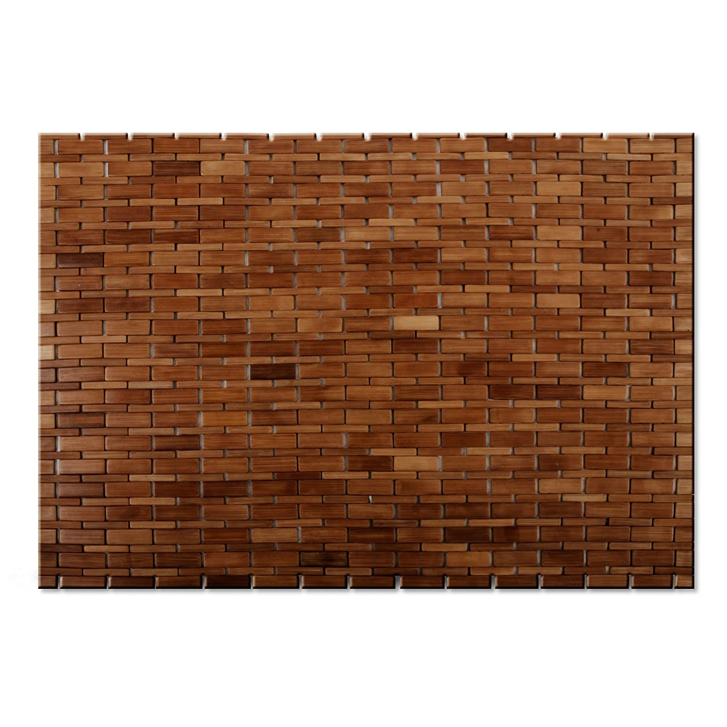 High Quality Casa Pura Luxury Bamboo Bath Mat, Chestnut Brown   60 X 90 Cm (2ft X 3ft) |  Bathroom U0026 Sauna Mat | 2 Colors Available: Amazon.co.uk: Kitchen U0026 Home