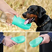 PoochBox Pet Water Bottle for Walking or Outdoor Travel with Bowl Dispenser, Antibacterial Portable Leak Proof Pet…